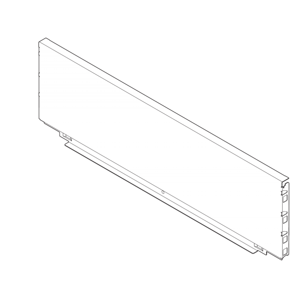 LEGRABOX задняя стенка из стали, высота C (193 мм), ВШК=562.5-563.4 мм