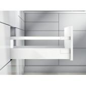 TANDEMBOX ANTARO, НД=400 мм, высота C (192 мм), одинарный рейлинг, белый шелк