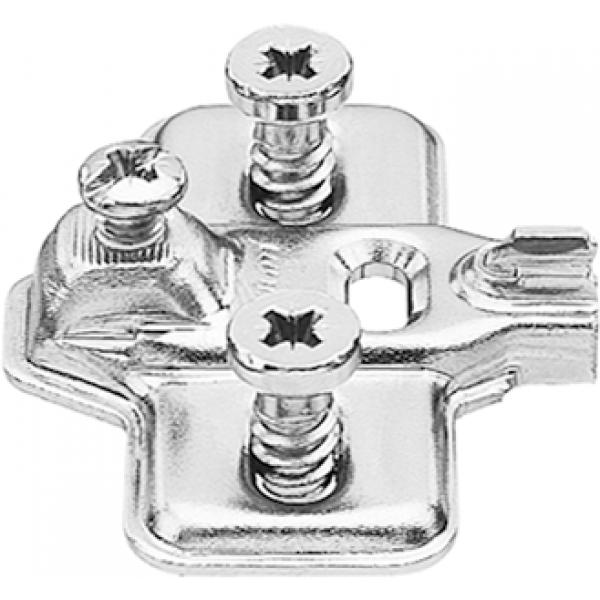 MODUL опорная планка, крестообразная 0 мм, сталь, предварительно вмонтированы евровинты, РВ: продольное отверстие