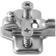 MODUL ответная планка, крест., 3 мм, сталь, предварительно вмонтированные евровинты, Регулировка по