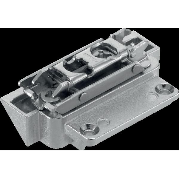 Малый поворотный подъемник AVENTOS HK-S, крепление фасада для узких алюминиевых рамок, на саморезы