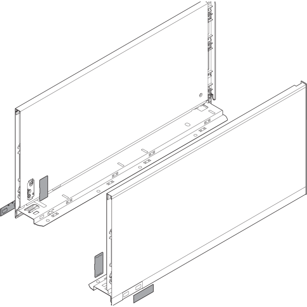 LEGRABOX царга, высота F (241,0 mm), ВС=450 мм, левая/правая, LEGRABOX pure