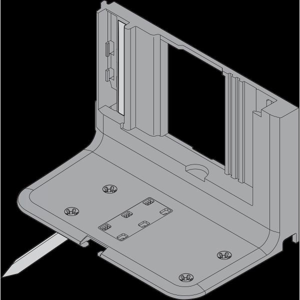Уголок-держатель SERVO-DRIVE одинарный, с кабелем (отступление кабеля 800 мм)