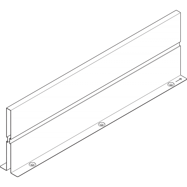 ORGA-LINE Межсекционная стенка, НД=450 мм, TANDEMBOX intivo/antaro ящик с высоким фасадом