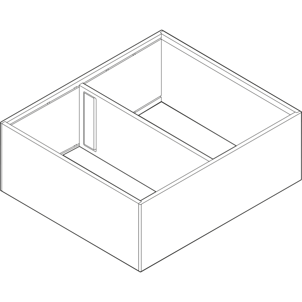 AMBIA-LINE рама для LEGRABOX, L=400мм, ширина=218мм, шелковый белый матовый