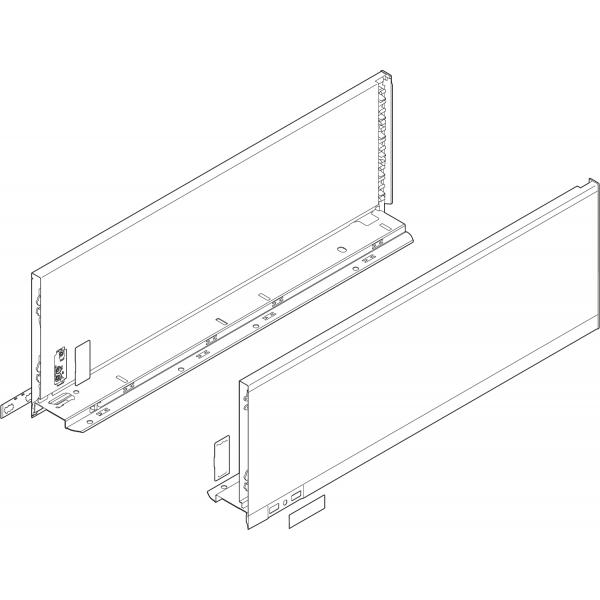 Царга LEGRABOX, высота K (128,5 мм), НД=400 мм, левая/правая