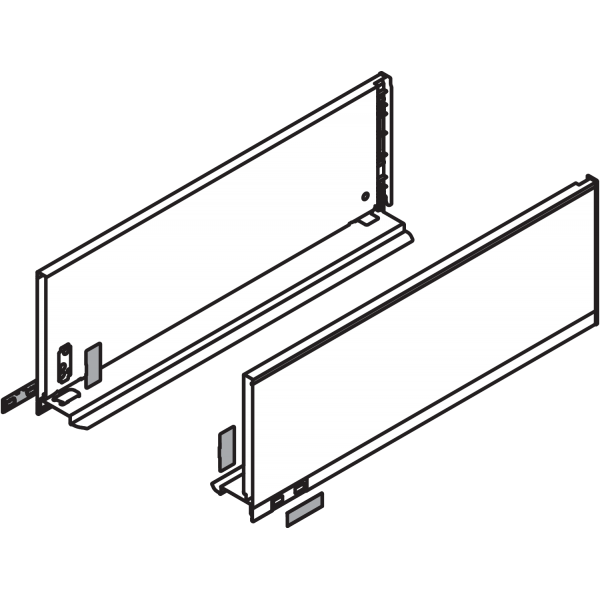 LEGRABOX царга, высота C (177,0 мм), НД=270 мм, левая/правая, LEGRABOX pure