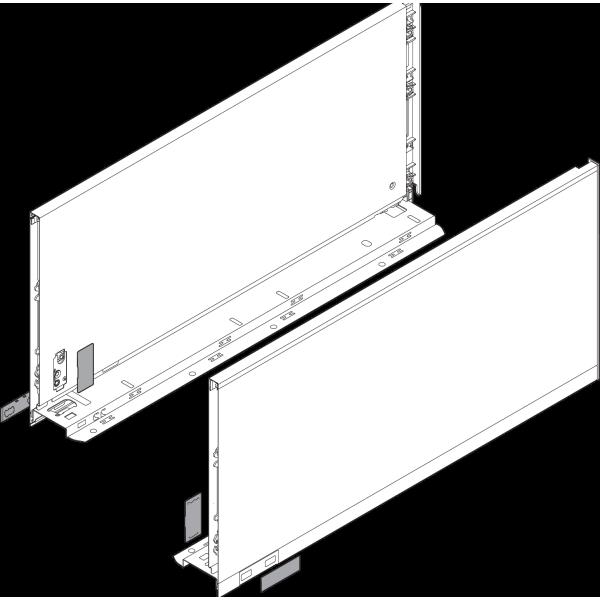 Царга LEGRABOX, высота F (241,0 мм), НД=450 мм, левая/правая, LEGRABOX pure
