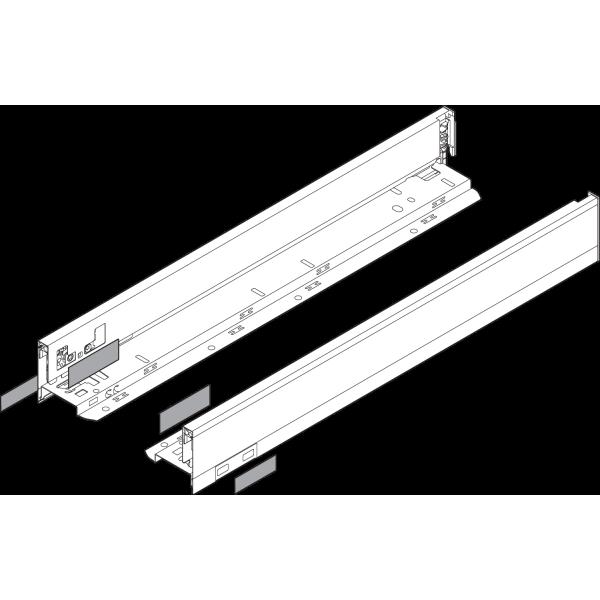 LEGRABOX царга, высота N (66,5 mm), ВС=500 мм, левая/правая