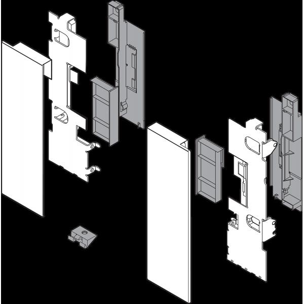 LEGRABOX держатель фасада, высота C, для высокого внутреннего ящика со вставкой, левый/правый