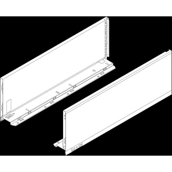 LEGRABOX царга, высота C (177,0 mm), НД=500 мм, левая/правая