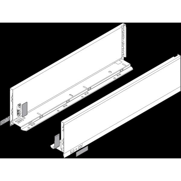 LEGRABOX царга, высота K (128,5 мм), НД=500 мм, левая/правая