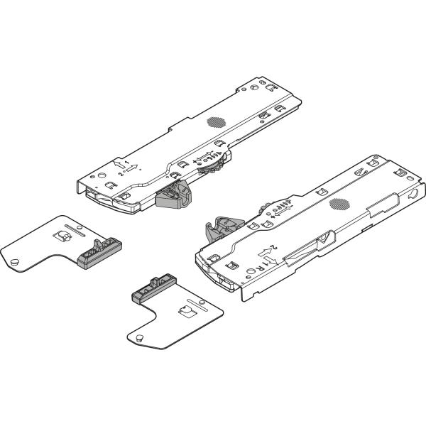 Комплект (Механизм + тригер) TIP-ON BLUMOTION для LEGRABOX/MOVENTO, Тип S1, NL=270-349 мм, Общий вес ящика=10-20 кг, правый+левый