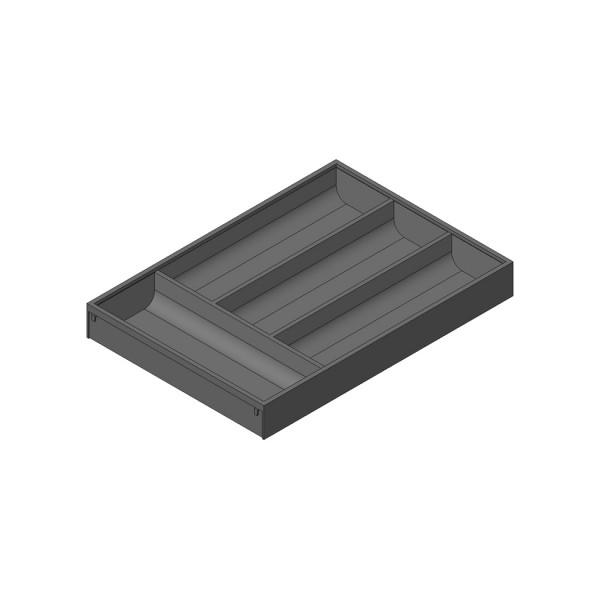 AMBIA-LINE  лоток для столовых приборов для LEGRABOX стандартный ящик, пластмасса/сталь, 4 лотка для столовых приборов, НД=450 мм, ширина=300 мм