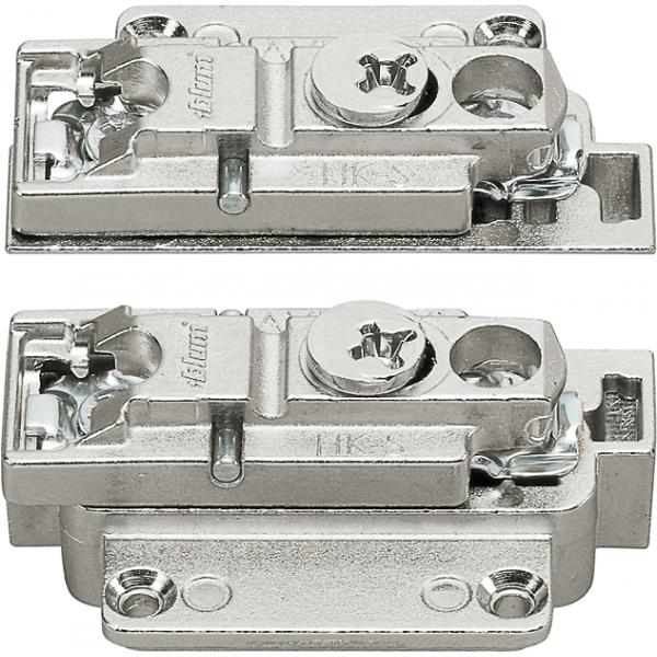 Опорная планка эксцентрик левая+правая для узких  алюминиевых рамок