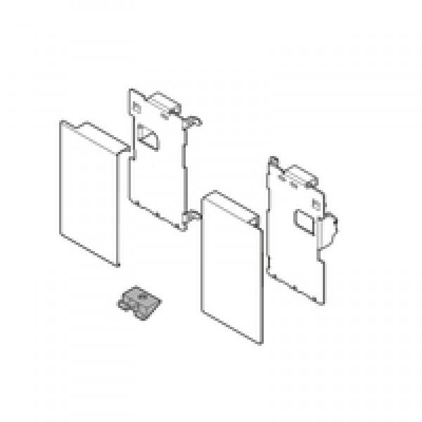 LEGRABOX держатель фасада, высота M, для внутрeнниx ящикoв, левый/правый, включая все загл., белый шёлк
