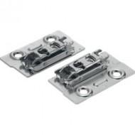 CLIP ответная планка, прям. (32 мм), 0 мм, сталь, на шурупы, РВ: эксцeнтрик, левый/правый, для узких алюминиевых рамок