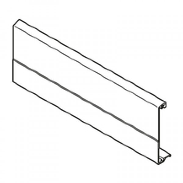 TANDEMBOX передняя панель, внутренний ящик и внутренняя галерея с поперечным релингом, ШК=1200 мм, под раскрой, для TANDEMBOX plus