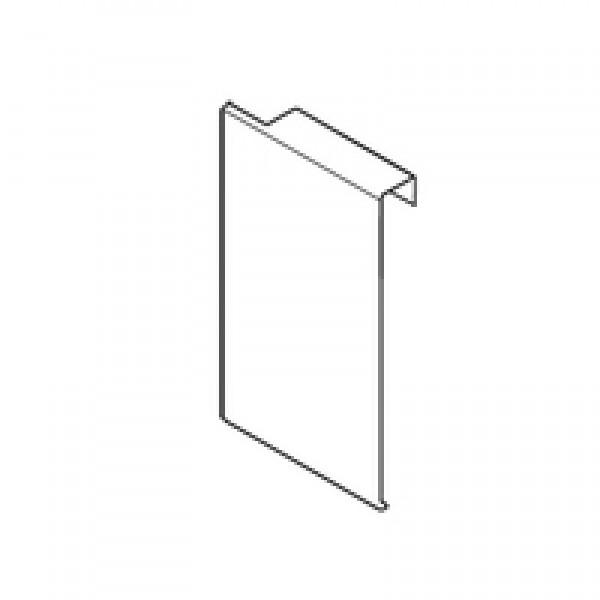 Заглушка для держателя фасада внутреннего ящика, высота М, лев., сталь