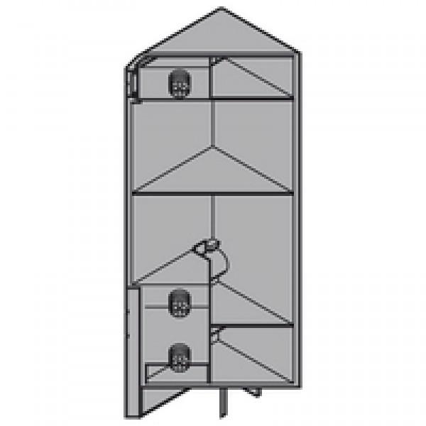 TANDEMBOX крепление фасада, высота D, EXPANDO, левое, SPACE CORNER
