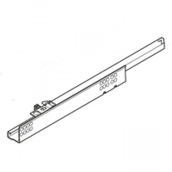 TANDEM BLUMOTION част. выдвиж., 30 кг, НД=460 мм, с фиксатором, правая