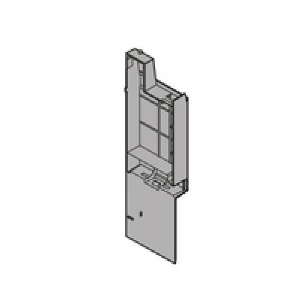 Заглушка для держателя фасада высокого внутреннего ящика с релингом, лев., пластмасса