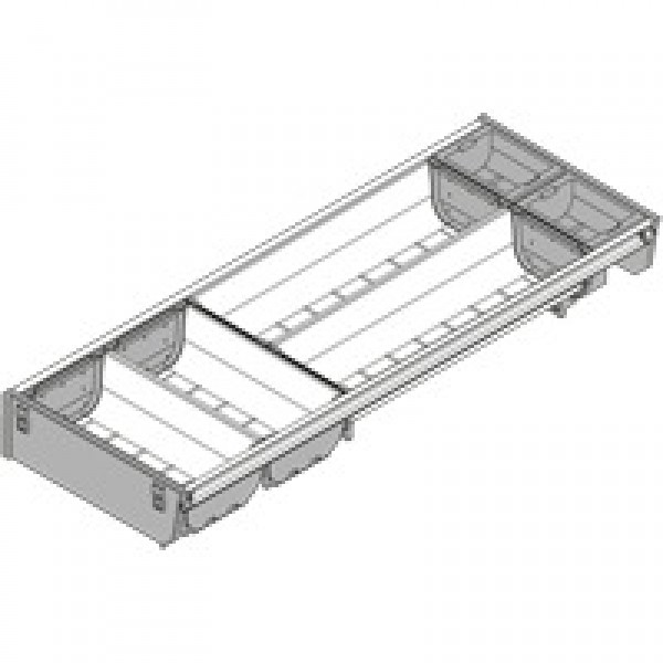 ORGA-LINE комплект лотков (частичное заполнение), TANDEMBOX стандартный ящик, НД=550 мм, ширина=192 мм