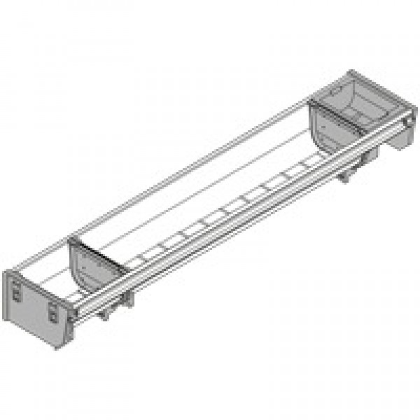 ORGA-LINE комплект лотков (частичное заполнение), TANDEMBOX стандартный ящик, НД=550 мм, ширина=103 мм