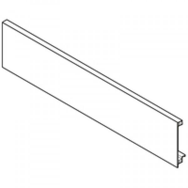 """Передняя панель, внутренний ящик и внутренняя галерея с поперечным релингом, ШК=1200 мм, под раскрой, без паза к """"M"""",""""C"""" с релингом 1043 мм, белый шёлк (на шурупы)"""