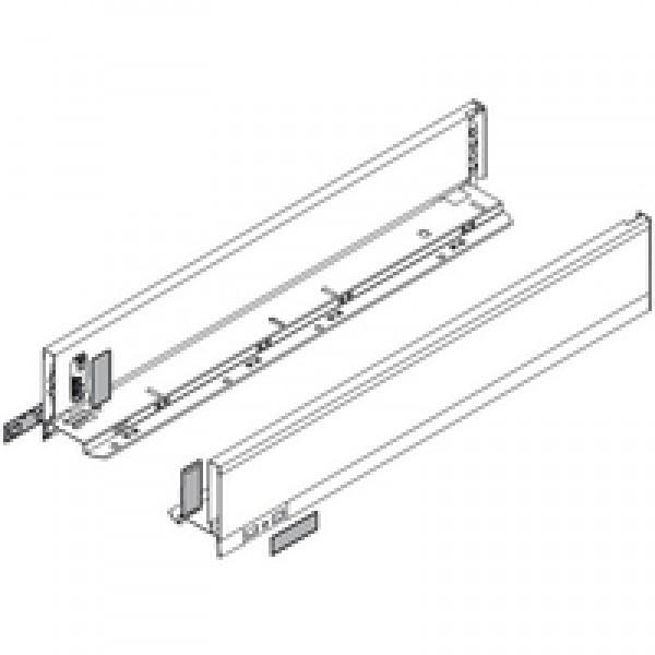 LEGRABOX царга, высота M (90,5 мм), НД=450 мм, левая/правая