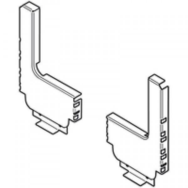 TANDEMBOX задняя стенка из стали, высота D (224 мм), ящик под мойку с высоким фасадом, ВнШ=147.5-148.4 мм, левый/правый, L-образный