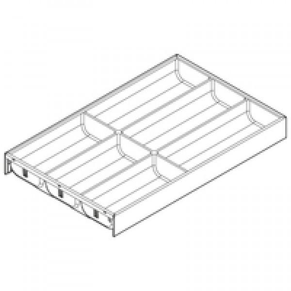 AMBIA-LINE  лоток для столовых приборов для LEGRABOX стандартный ящик, пластмасса/сталь, 6 лотков для столовых приборов, НД=500 мм, ширина=300 мм