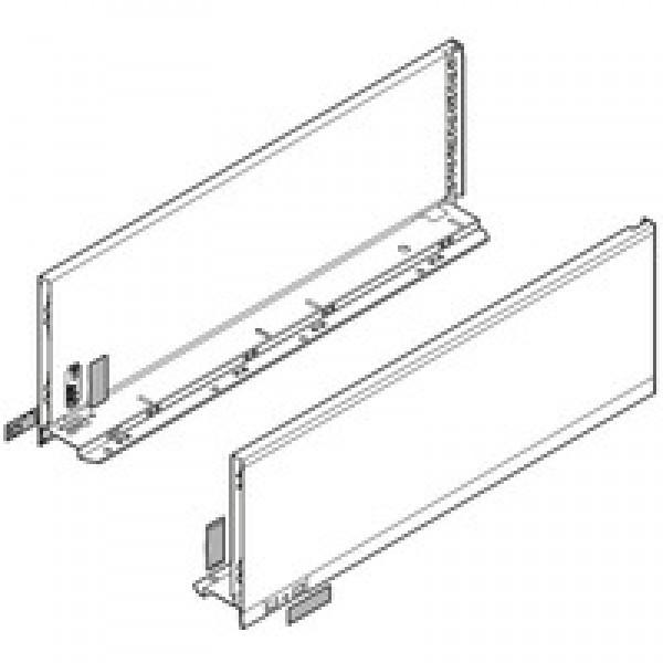 LEGRABOX царга, высота C (177,0 мм), НД=500 мм, левая/правая, LEGRABOX pure