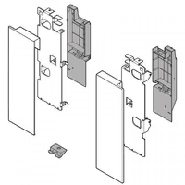 LEGRABOX держатель фасада, высота C, для выс. внутр. ящика с релингом, левый/правый