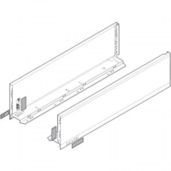 LEGRABOX боковина L=400 K, левая+правая, белый шелк, матовый