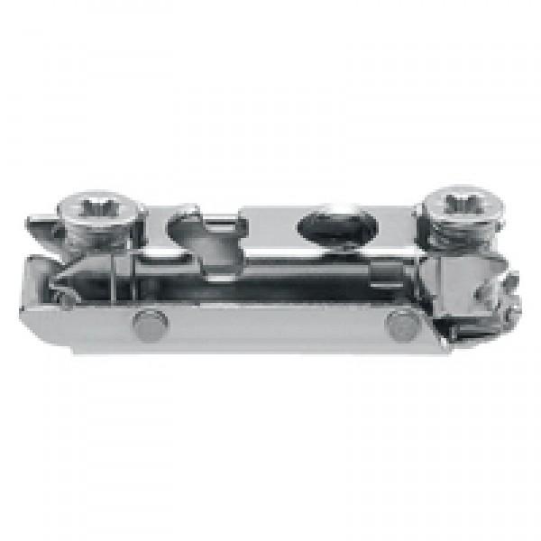 CLIP опорная планка, прямая (20/32 мм), 0 мм, сталь, H=8,5мм, предварительно вмонтированы евровинты