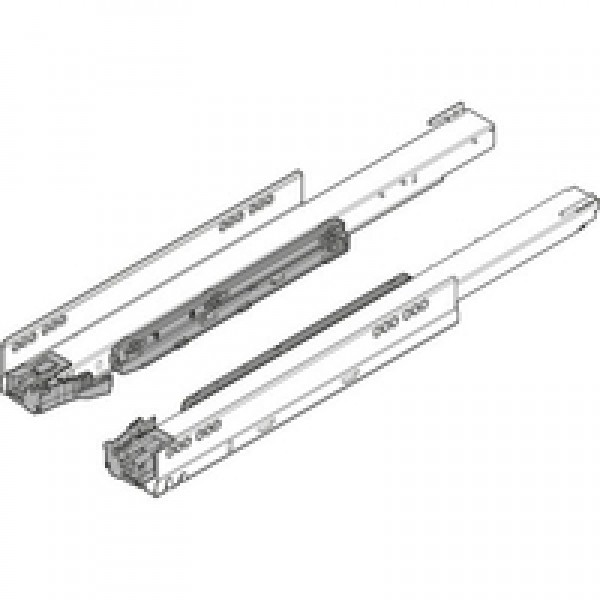 Направляющая к корпусу LEGRABOX для TIP-ON BLUMOTION, полное выдвижение, 40 кг, НД=600 мм, левая/правая